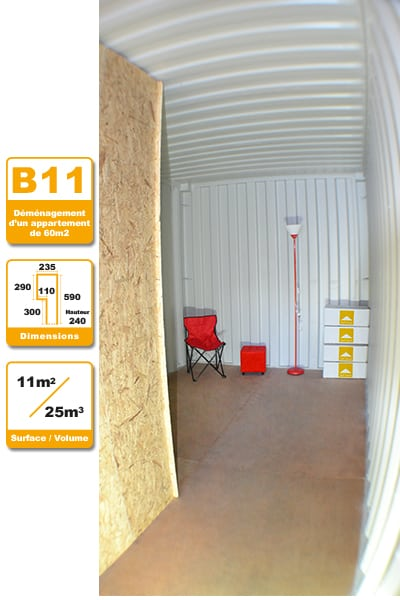Selbstlagerung Container B11H