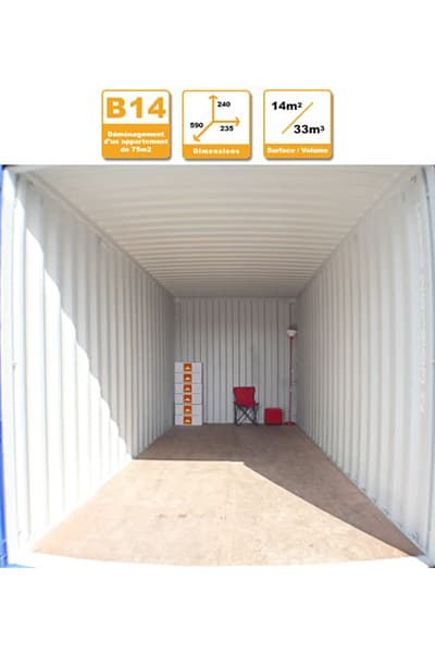 Selbstlagerung Container B14H