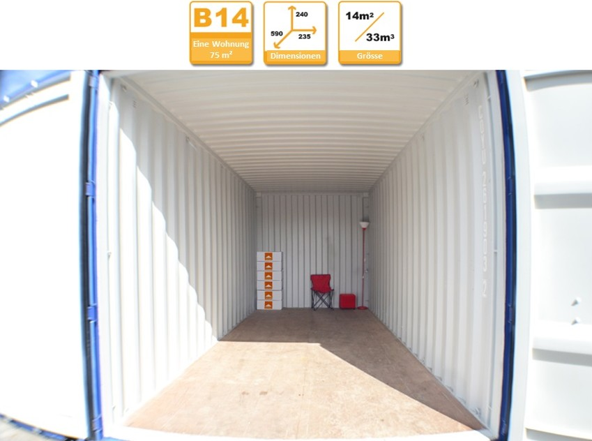 Selbstlagerung Container B14