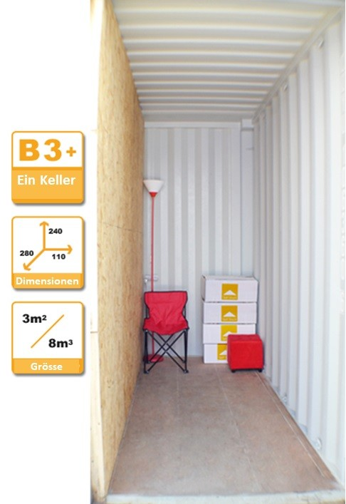 Selbstlagerung Container B3+