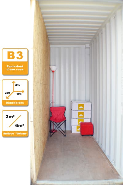 Selbstlagerung Container B3H