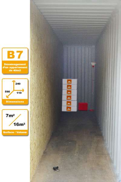 Selbstlagerung Container B7H