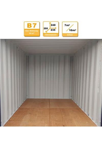 Selbstlagerung Container B7W