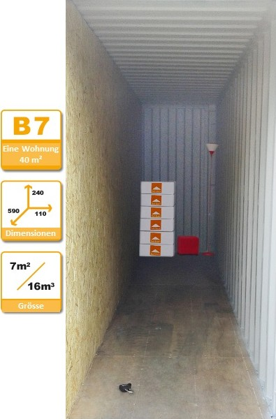 Selbstlagerung Container B7